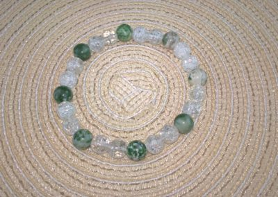 Hegyikristály-Zöldpettyes Jáde