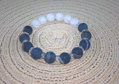Hegyikristály & kék achat