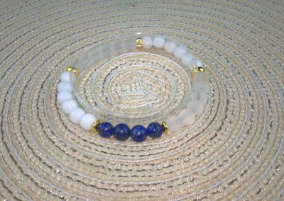 Tejkvarc Hegyikristály (matt) és Lápisz